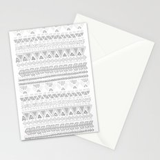 Grey aztec pattern Stationery Cards