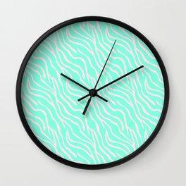 Green zebra Wall Clock