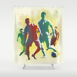 Football is more than a game Shower Curtain