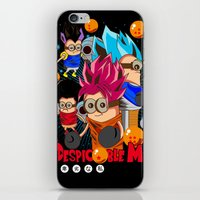 dragonball iPhone & iPod Skins featuring Rise of Mini Dragonball by cungtudaeast