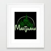 marijuana Framed Art Prints featuring Marijuana  by FandomizedRose