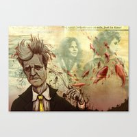 david lynch Canvas Prints featuring Lynch by Davel F. Hamue