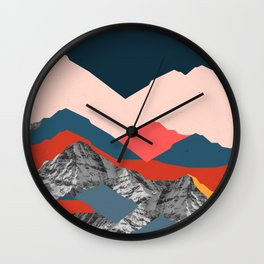 Graphic Mountains X Wall Clock