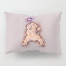 Staffordshire terrier Puppy with Butterfly Pillow Sham