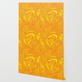 Mellow Yellow Parrot Wallpaper