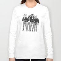 ramones Long Sleeve T-shirts featuring RAWRMONES by Gimetzco's Damaged Goods