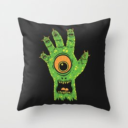 Finger Monsters Throw Pillow