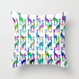 Disco Zoo Patterns Throw Pillow