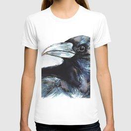 Raven, Watercolor T-shirt