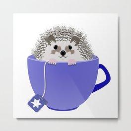 Kosher Chanukah Holiday Hedgehog Metal Print