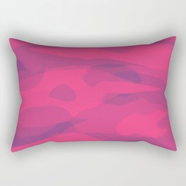 Shocking Pink Camouflage  Rectangular Pillow