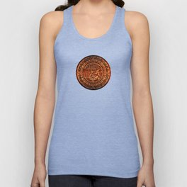 Aztec Logo On Wood Unisex Tank Top
