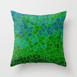 Mosaic Forest Throw Pillow