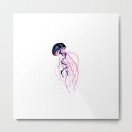the dance - jellyfish and bubble (pink / purple) Metal Print