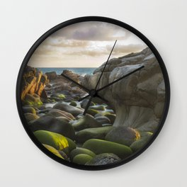 Porth Nanven, Cot Valley 2, Cornwall, England, United Kingdom Wall Clock