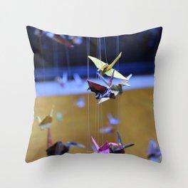 Paper Cranes Throw Pillow