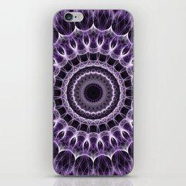 Dark violet mandala iPhone Skin