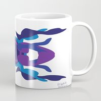 spaceship Mugs featuring Spaceship by David Nuh Omar