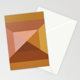 Mod Abstract Geometry Stationery Cards