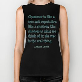 Tree of Character VINTAGE BLUE / Deep thoughts by Abe Lincoln Biker Tank