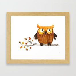 Autumn owl Framed Art Print
