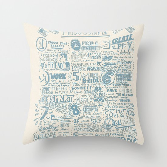 How to make the perfect mixtape Throw Pillow