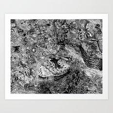 Scribbler Art Print