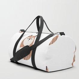 Folkloric Christmas Winter Fox Duffle Bag