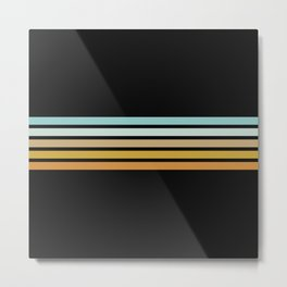 Kazushige - Classic Retro Stripes Metal Print