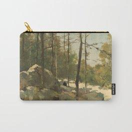 Wooded View near Barbizon - Johan Hendrik Weissenbruch (1900) Carry-All Pouch