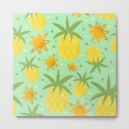 Pineapple Sunshine Metal Print