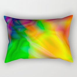 Abstract Iridescent Water Rectangular Pillow
