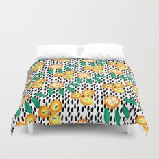 Citrus and Leaves II Duvet Cover