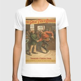 Vintage poster - The Great Train Robbery T-shirt
