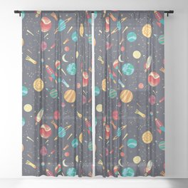 Journey Into Space Sheer Curtain
