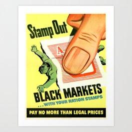 Black Market Art Print