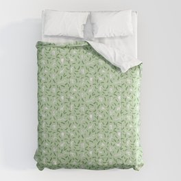 Cats And Cukes - Green Version Comforters