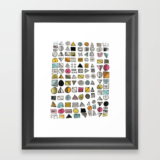 HIEROGLYPHS  Framed Art Print