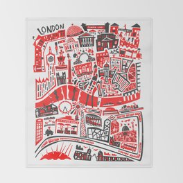 London Map Throw Blanket