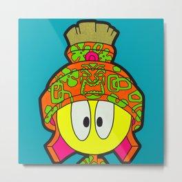 Where's The Kahlua - martian pop art painting, tiki art Metal Print