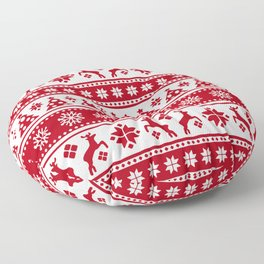 Christmas Holiday Nordic Pattern Cozy Floor Pillow
