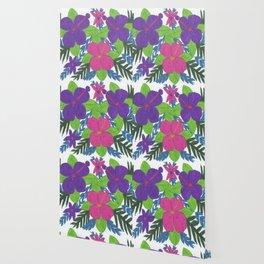 Tropical Hibiscus Bouquet Wallpaper