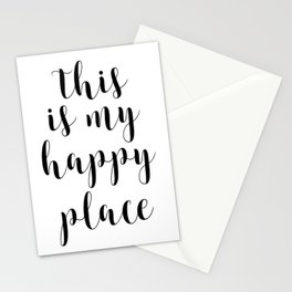 This Is My Happy Place, Printable Quotes, Inspirational Art, Calligraphy Quotes, Motivational Quote Stationery Cards