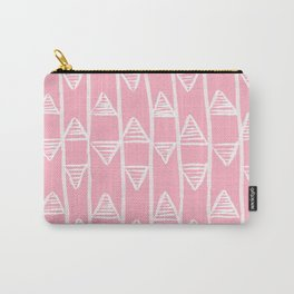 Pink Pyramids Pattern Carry-All Pouch