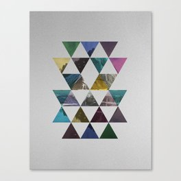 Colorful triangle pattern  Canvas Print