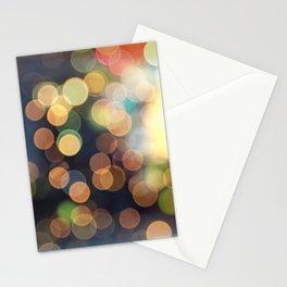 Festive bokeh Stationery Cards