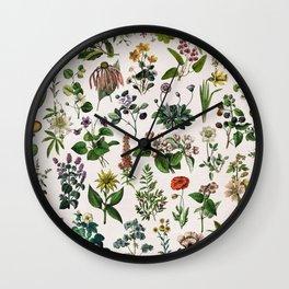 vintage botanical print Wall Clock