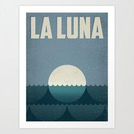 La Luna (the moon) Art Print