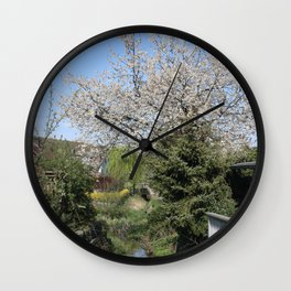 Flower Photography by Lea Katharina Wall Clock