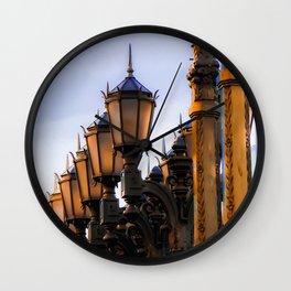 Urban Lights pole at LACMA art museum, Los Angeles, California, USA Wall Clock